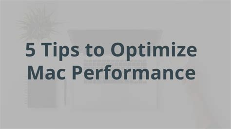 how to make your mac faster part 1 optimize performance mac performance how to make mac faster