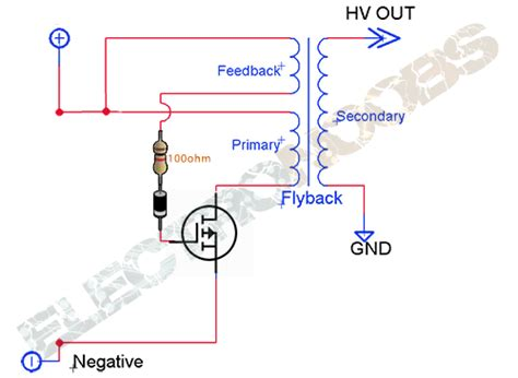 flyback remove diode arc lighter tutorial plasma flyback transformer cold neon lcd high voltage
