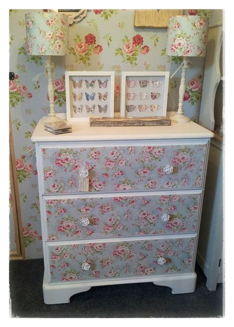 Decoupage Dresser With Fabric - 17 best images about decoupage on vintage