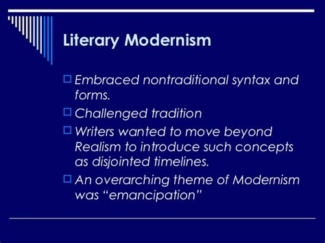 overarching themes meaning literary modernism