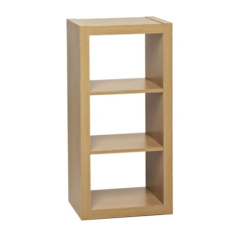 wilko shelving unit oslo style 3 tier oak effect at wilko