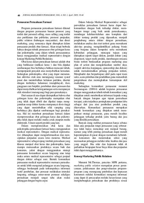 Manajemen Pemasaran Farmasi Surno 1 jurnal manajemen4 libre