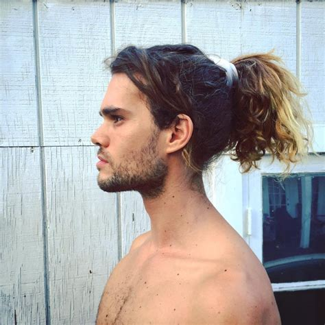 mens hair long pony on top buzz side and back ponytail haircuts best 40 ponytail hairstyles for boys