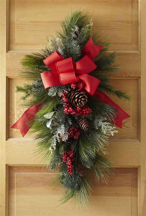 christmas swag wreath   front door