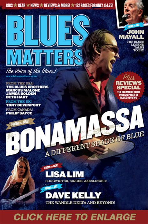 magazine matter joe bonamassa on the cover of blues matters magazine