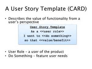As A User I Want User Story Template by Uw Agile Cp202 Class 1 User Stories