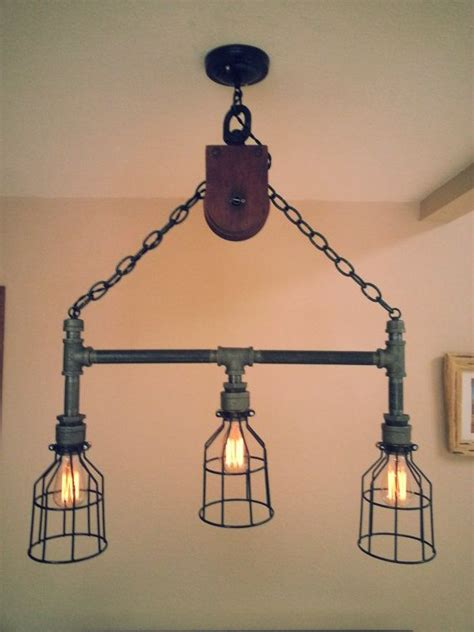 industrial pipe light fixture best 25 pulley light ideas on pulley vintage