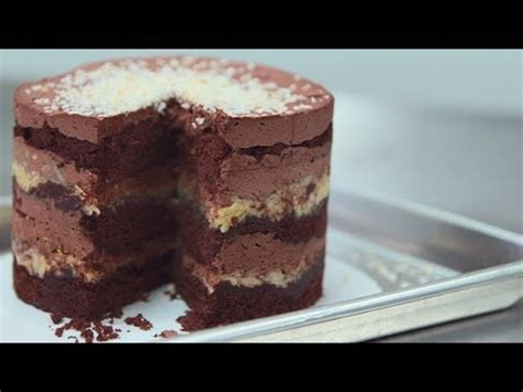 momofuku milk bars german chocolate jimbo cake   dish youtube