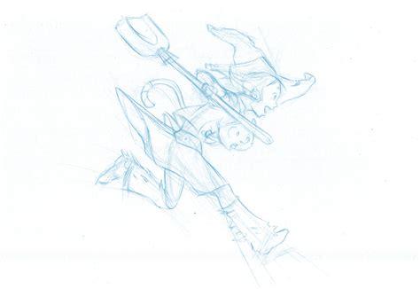 blue sketch from blue sketch to digital in krita david revoy