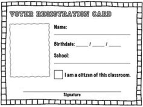 voter registration card template click clack moo cows that type graphing activity