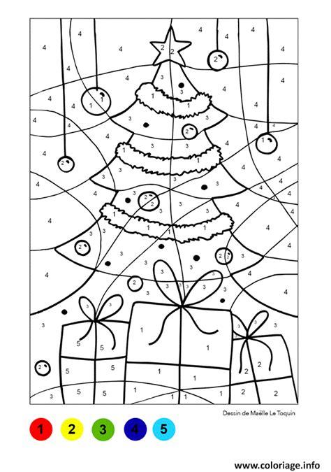 Sapin De Noel Magique by Coloriage Magique Sapin Et Cadeaux Noel Jecolorie