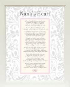 Nana s heart poem vintage style 11x14