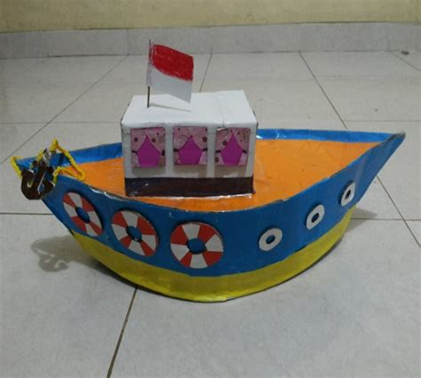 cara membuat kapal selam mainan dari barang bekas mainan anak bentuk kapal dari kardus bekas zona kreatif