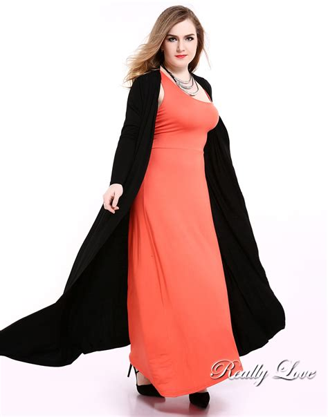 Big Ufufy Big Size Daster aliexpress buy s black plus size duster cardigan sleeve maxi stretchy