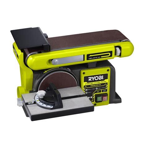 ryobi bench sander ryobi 370w belt and disc sander bunnings warehouse