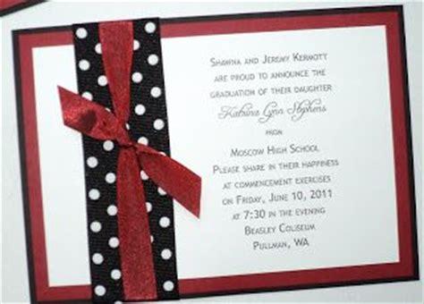 Handmade Graduation Invitations - diy high school graduation announcements