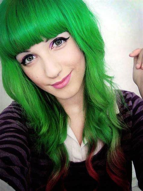mangkok sango norah teal 31 glamorous green hairstyle ideas ambie