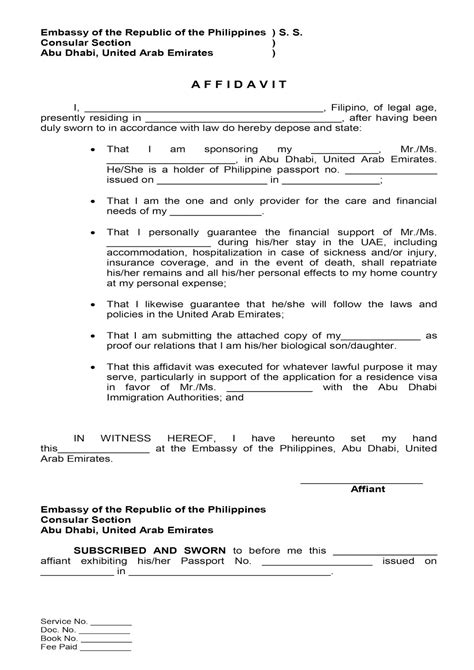 Affidavit Of Support Sle Letter Philippines Application Letter In Philippines Sle Solicited Application Letter Application Letter Block