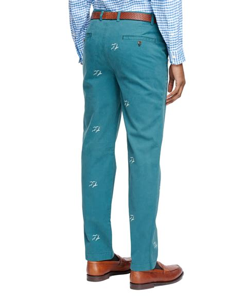 Pant Wash Prada Milan brothers fit seagull embroidered chinos in
