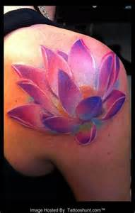 Lotus Flower Color Beautiful Color Lotus Flower 3d On Shoulder