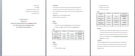 chemistry lab report template how to write a general chemistry lab report 11 steps