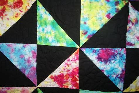 Tye Dye Quilt tie dyed pin wheel bed size quilt
