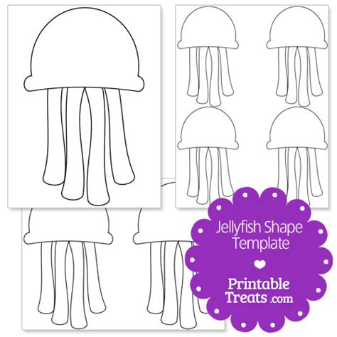 jellyfish template printable jellyfish shape template printable treats