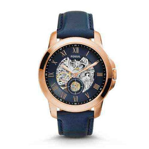 Jam Tangan Fossil Leather 10 jual fossil me3054 grant automatic navy leather baru