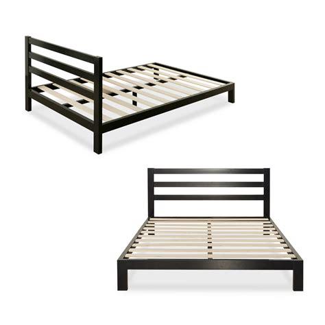 Platform 2000h metal bed frame mattress foundation with headboard