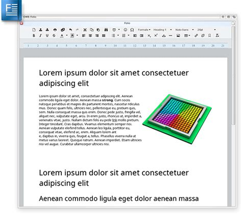 webkit layout word processing tool folio for morphos with sophisticated