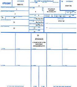 Fingerprint Card Template Instructions For Form 7 Application For Federal Firearms