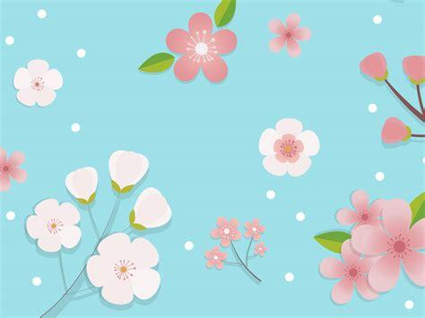 Wild Flowers Pattern Powerpoint Templates Flowers Flower Blue Patterns Ppt Backgrounds