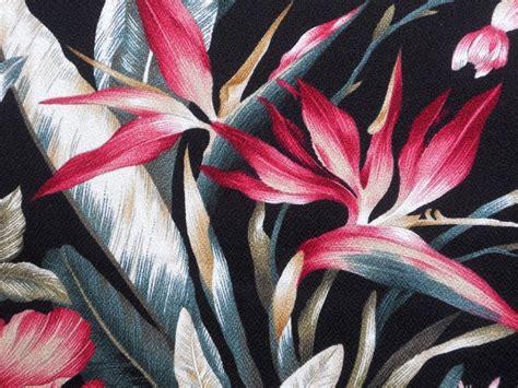 hawaiian upholstery fabric 3 yards hawaiian tropical cotton barkcloth upholstery