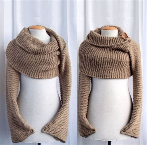 knitting pattern sleeve scarf sweater scarf shawl with sleeves at both ends free
