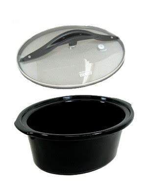hamilton beach  crock pot bowl insert liner  lid