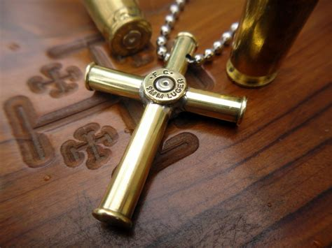 how to make jewelry out of bullet casings bullet casing cross pendant necklace medium