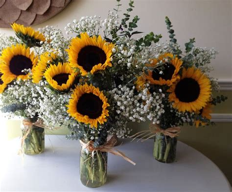 Sunflower Arrangements For Weddings by Baby S Breath With Sunflowers Bouquet Sunflower And Baby