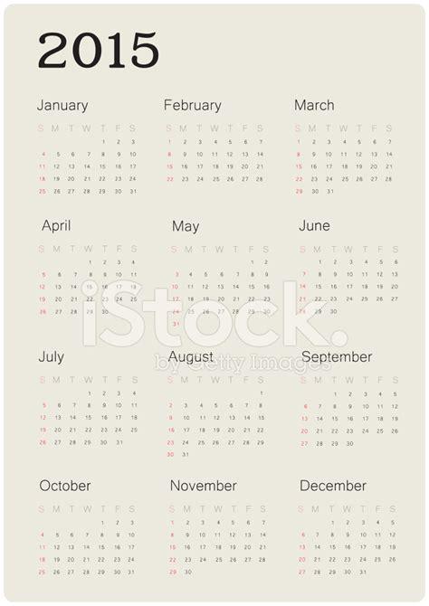 calendar design vector 2015 calendar 2015 with simple design vector stock vector