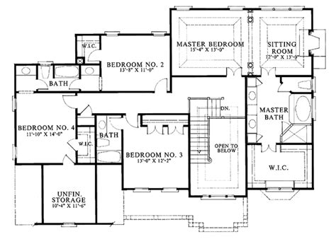 3200 Sq Ft House Plans Colonial Style House Plan 4 Beds 3 5 Baths 3200 Sq Ft Plan 429 91 Dreamhomesource