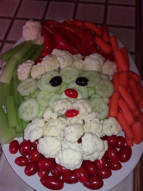 vegetable santa claus platter my pin veggie santa food ideas