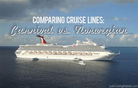 norwegian cruise vs carnival comparing cruise lines carnival vs norwegian just