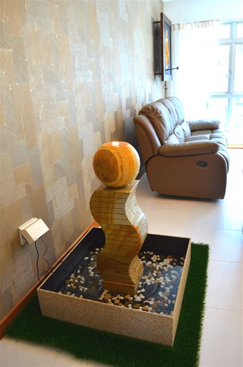 Living Room Water Feature by Design In Hdb 4 Room Type In