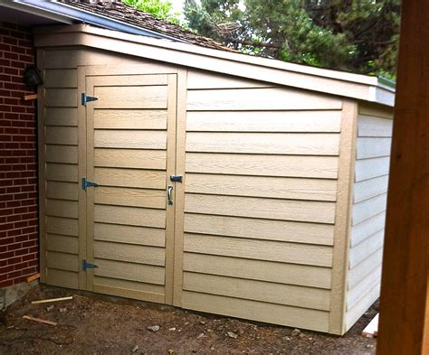 build  storage shed attached   home jim