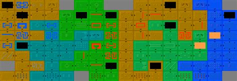 legend of zelda map dungeon 1 crude ascii maps legend of zelda