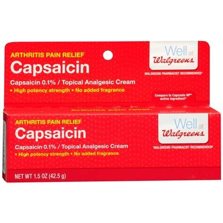 walgreens capsaicin arthritis pain relief cream   walgreens