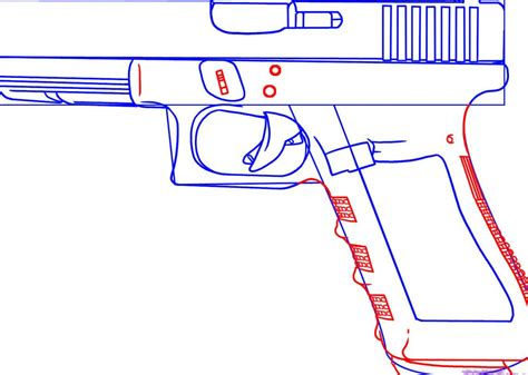 how to make a paper gun step by step