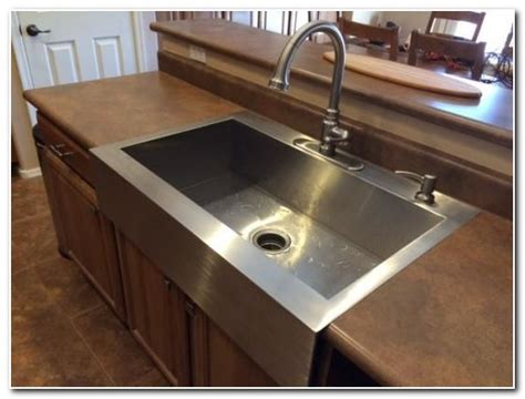 drop in apron front sink drop in apron front sink sink and faucet home