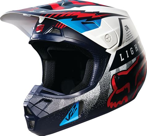 motocross closeout gear fox racing v2 vicious dot mx motocross riding helmet