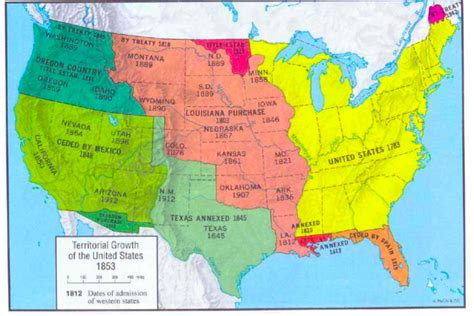 us history map ushistory yhs territorial expansion of us