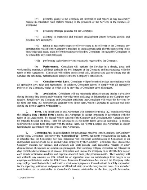 28 software consulting agreement template doc